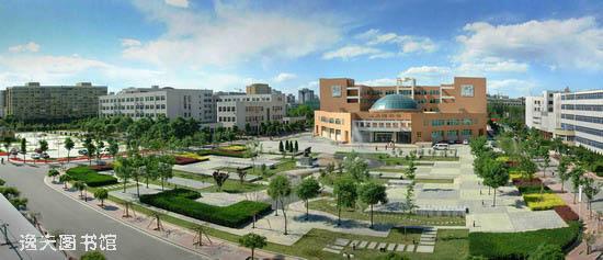 北京工业大学校园环境逸夫图书馆图片